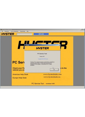 2018 Year Newest Version hyster and Yale PC Service Tool v4.91 with Development license +Jungheinrich Repair Information Jeti SH 4.34+expire patch+license key