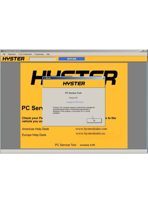 2018 Year Newest Version hyster and Yale PC Service Tool v4