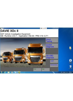 DAF Davie Runtime 5.6.1 for paccar and DAF engine diagnostic software